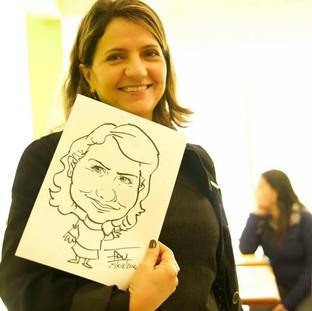 Caricatura feita em papel A4
