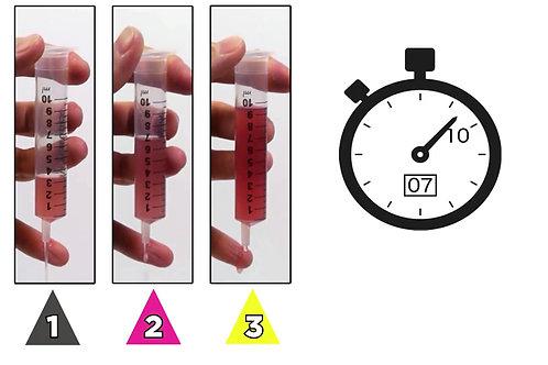 國際吞嚥障礙飲食標準(IDDSI) 流動測試 第一至三級比較