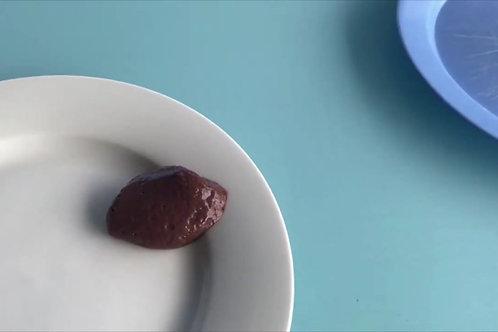 國際吞嚥障礙飲食標準(IDDSI)  湯匙傾側測試 – 第四級︰高度稠(杰)/ 糊狀