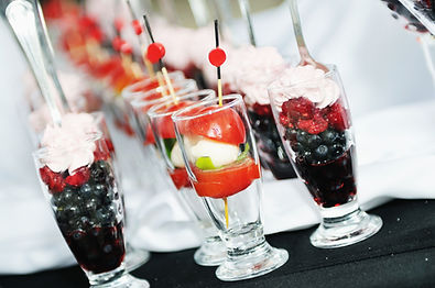 Fresh fruit and Bubbles from one f Rusty and Roses Catering and Bars