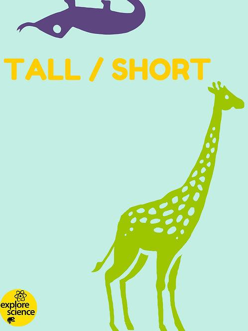 Animal Opposites: Tall/Short Activities Kit