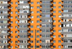 bigstock-Orange-And-Grey-Brick-House-Wi-108825167