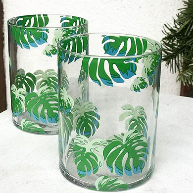 Banana Leaf Glasses Made in Holland.jpg