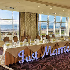 large light up letters just married head