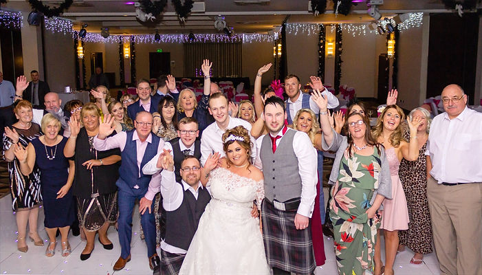 amazing group wedding family and guests