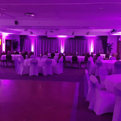 wedding venue lighting mood purple devot