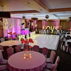 large light up letters mr mrs love venue