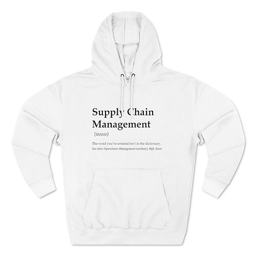 Supply Chain Management Unisex Pullover Hoodie