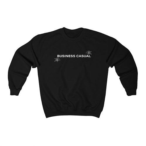 Business Casual with Prairie Lily Motif Unisex Crewneck Sweatshirt