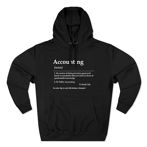 Accounting Unisex Pullover Hoodie