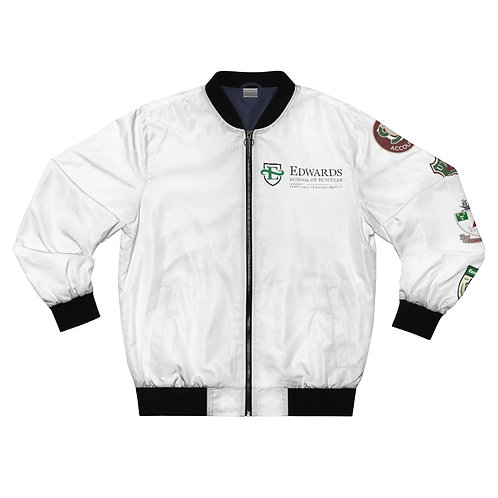 Unisex Edwards School of Business with Crests Bomber Jacket