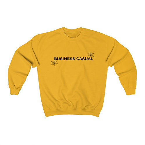 Business Casual with Prairie Lily Motif Unisex Crewneck Sweatshirt