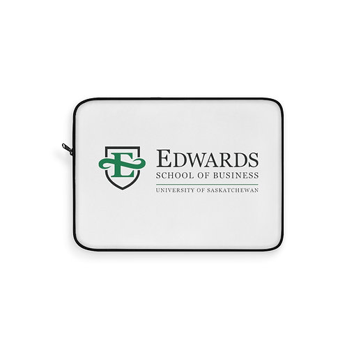Edwards School of Business Laptop Sleeve in White
