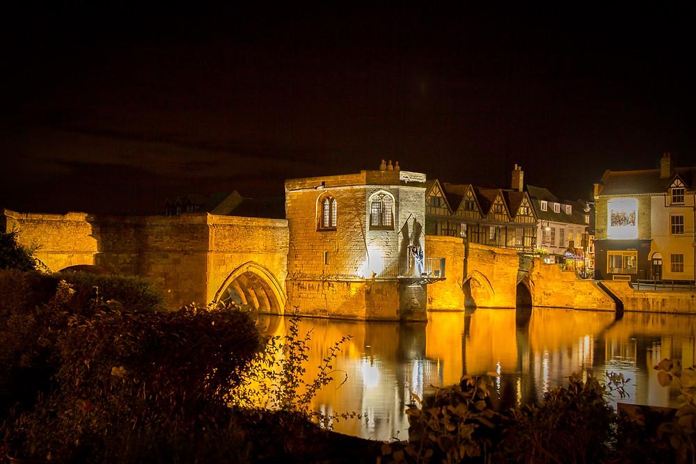 Night shot Chapel Bridge St Ives | Craig Howkins Photography | wedding photographer St. Ives Cambridgeshire Northamptonshire