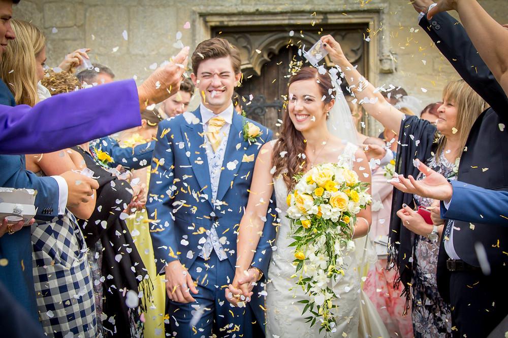 St John the Baptist church Holywell | Craig Howkins Photography | wedding photographer St. Ives Cambridgeshire Northamptonshire | confetti