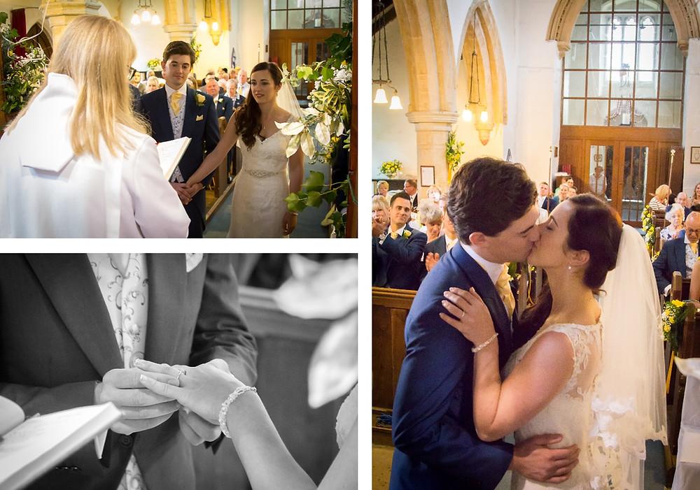 St John the Baptist church Holywell | Craig Howkins Photography | wedding photographer St. Ives Cambridgeshire Northamptonshire | ceremony