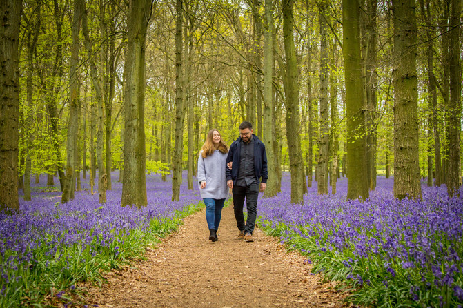 The Pre-wedding shoot of Eleanor and Sam in Dockey Wood