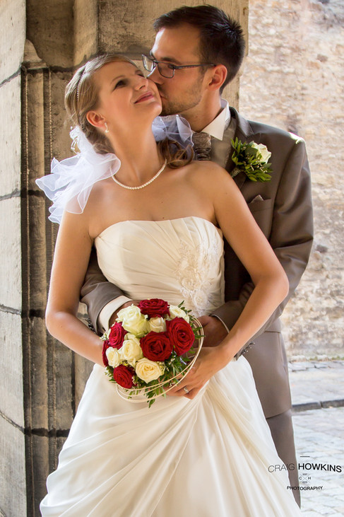 Craig Howkins Photography wedding photographer St Ives Cambridge Cambridgeshire Northampton Northamptonshire Merseburg Schloss bride groom kiss