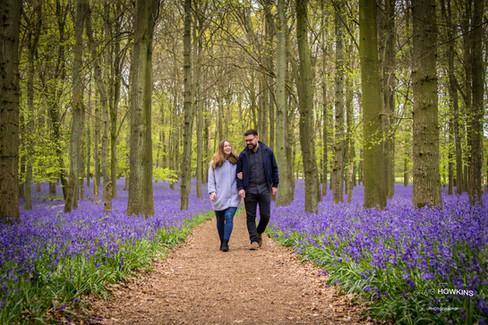 Craig Howkins Photography wedding photographer St Ives Cambridge Cambridgeshire Northampton Northamptonshire blue bells dockey woods pre-wedding shoot, engagement shoot