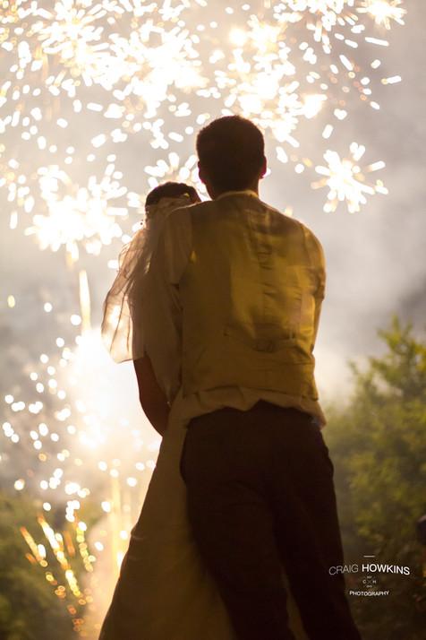 Craig Howkins Photography wedding photographer St Ives Cambridge Cambridgeshire Northampton Northamptonshire fireworks