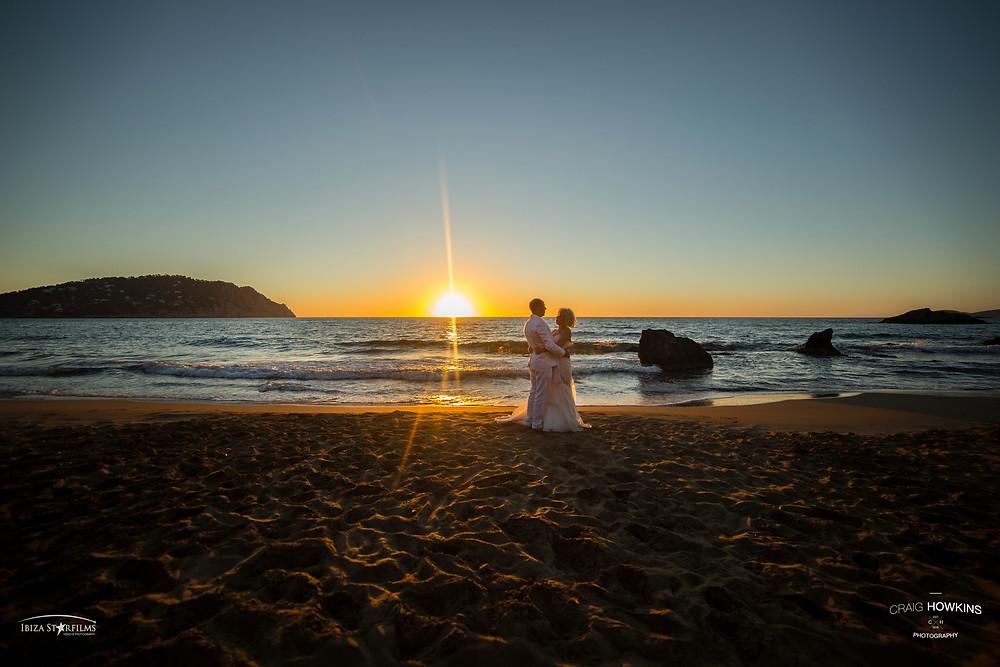 Post-Wedding shoot beach Ibiza Craig Howkins Photography St Ives Cambridgeshire Northamptonshire
