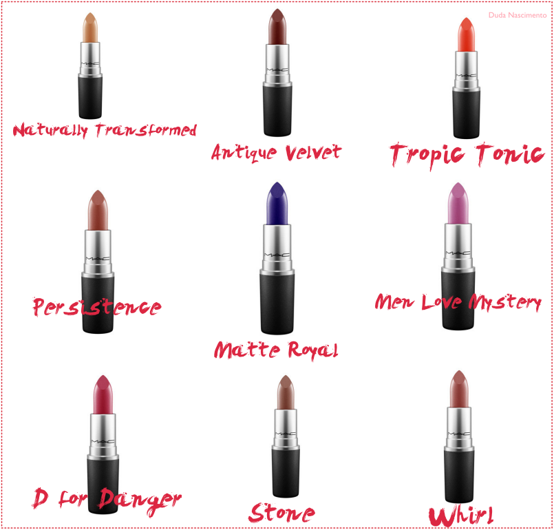 Novos Batons MAC - The Matte Lip Collection Summer 2015 - Duda Nascimento