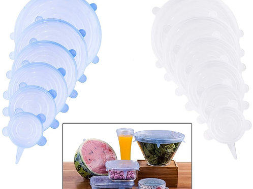 Silicone Stretch Lids, 12-Pack Various Sizes Cover for Bowl