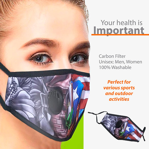 Puerto Rico Face Mask with Filter