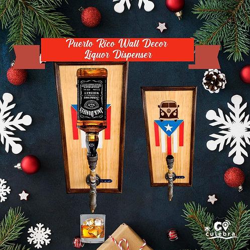 Puerto Rico Wall Decor Liquor Dispenser