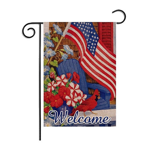 Garden Flag-4 July Vertical Double Sided 12 x 18 Inch