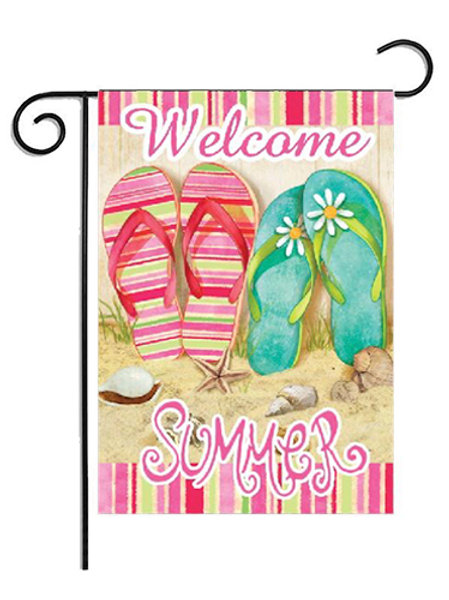 Garden Flag - Welcome Summer Vertical Double Sided 12 x 18 Inch