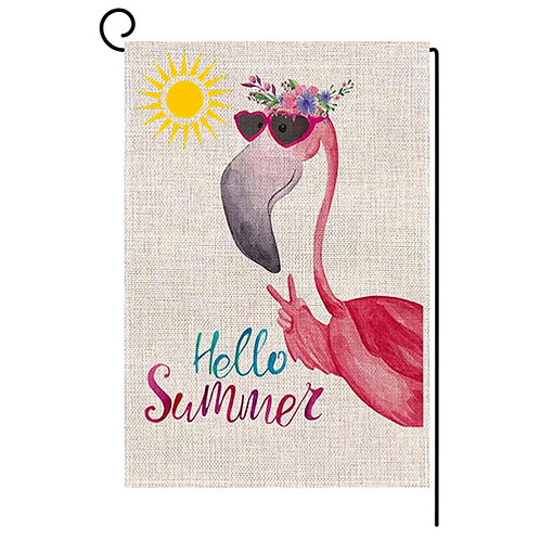 Garden Flag Hello Summer Vertical Double Sided 12 x 18 Inch