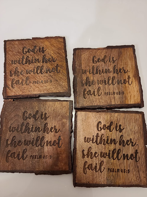 Psalm 46:5 Coaster Engraved