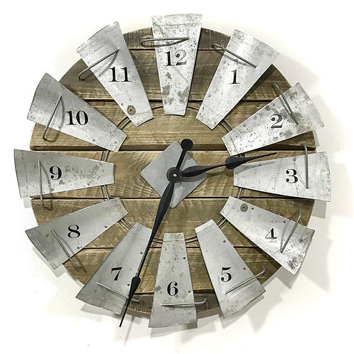 Windmill Clock - Silver GIHS0019