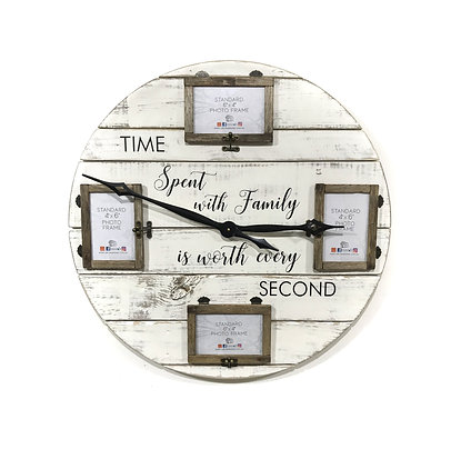 Time Spent with Family x4 Clock