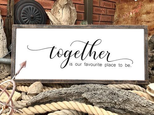 Framed Stencil - Together