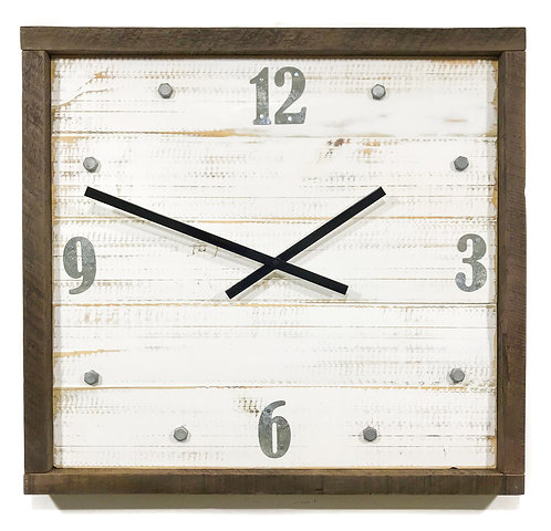 Square rustic clock GIHS0023