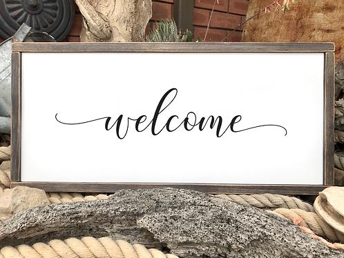 Framed Stencil - Welcome
