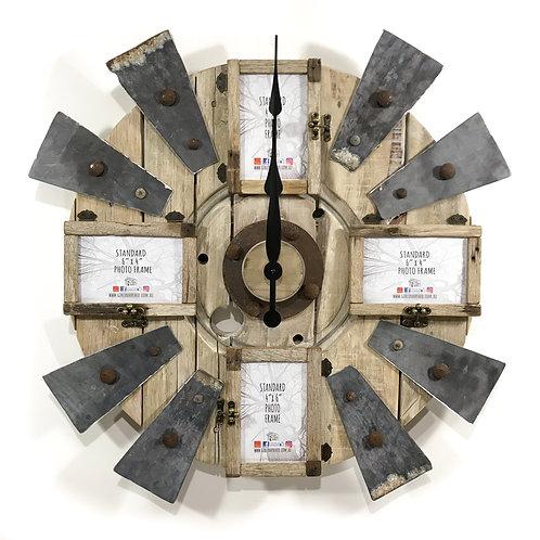 "Windmill Clock - 4 x Frame 4""x6""                      GIHS0002"