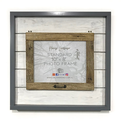 "Rustic 8""x 10"" Hinged Frame - Dark Grey GIHS0017"