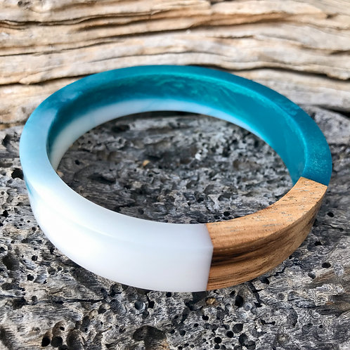 Zebra Wood and Resin Bracelet
