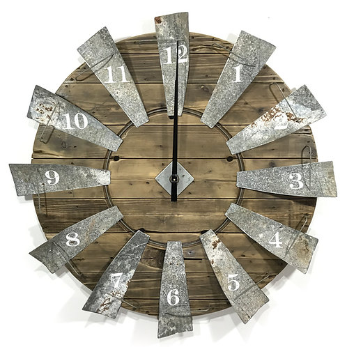 Windmill Clock - Large Natural GIHS0003