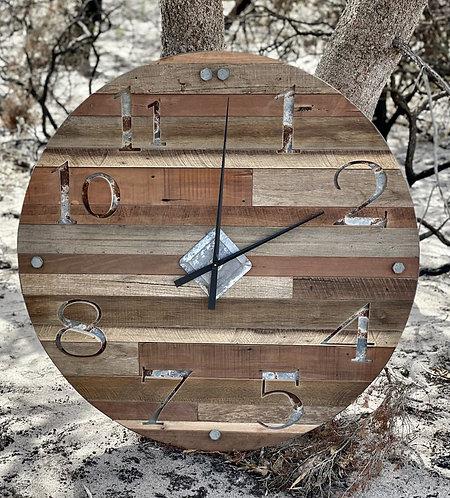 Large Rustic Hardwood Clock.