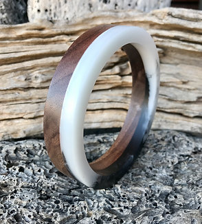 Walnut and Resin Bracelet