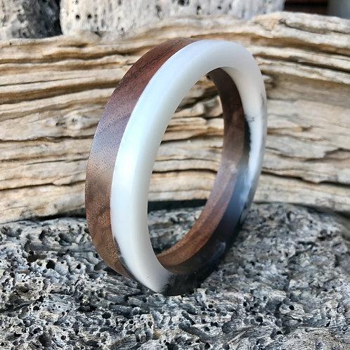 Walnut and Resin Bracelet