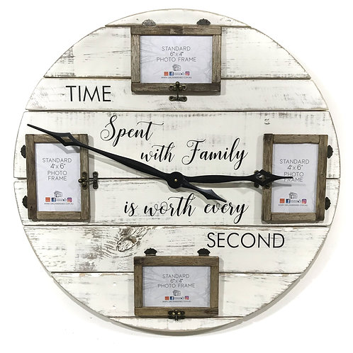 "TIME Spent Clock (4) 6""x4"" frames GIHS0020"