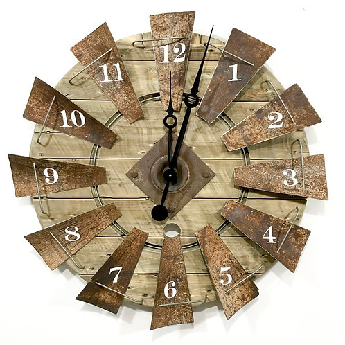 Windmill Clock Medium Rusty GIHS0010
