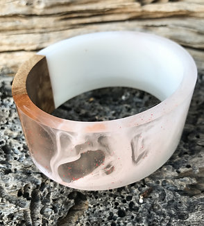 Ripple Maple Resin Bracelet