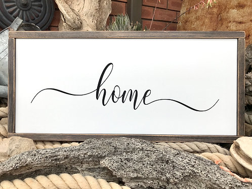 Framed Stencil - Home