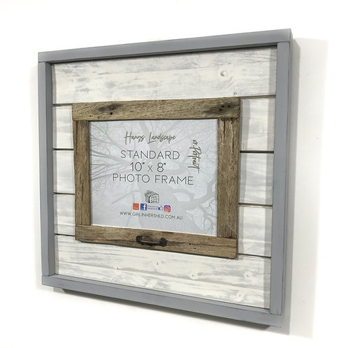 "Rustic 8""x 10"" Hinged Frame - Light Grey GIHS0016"